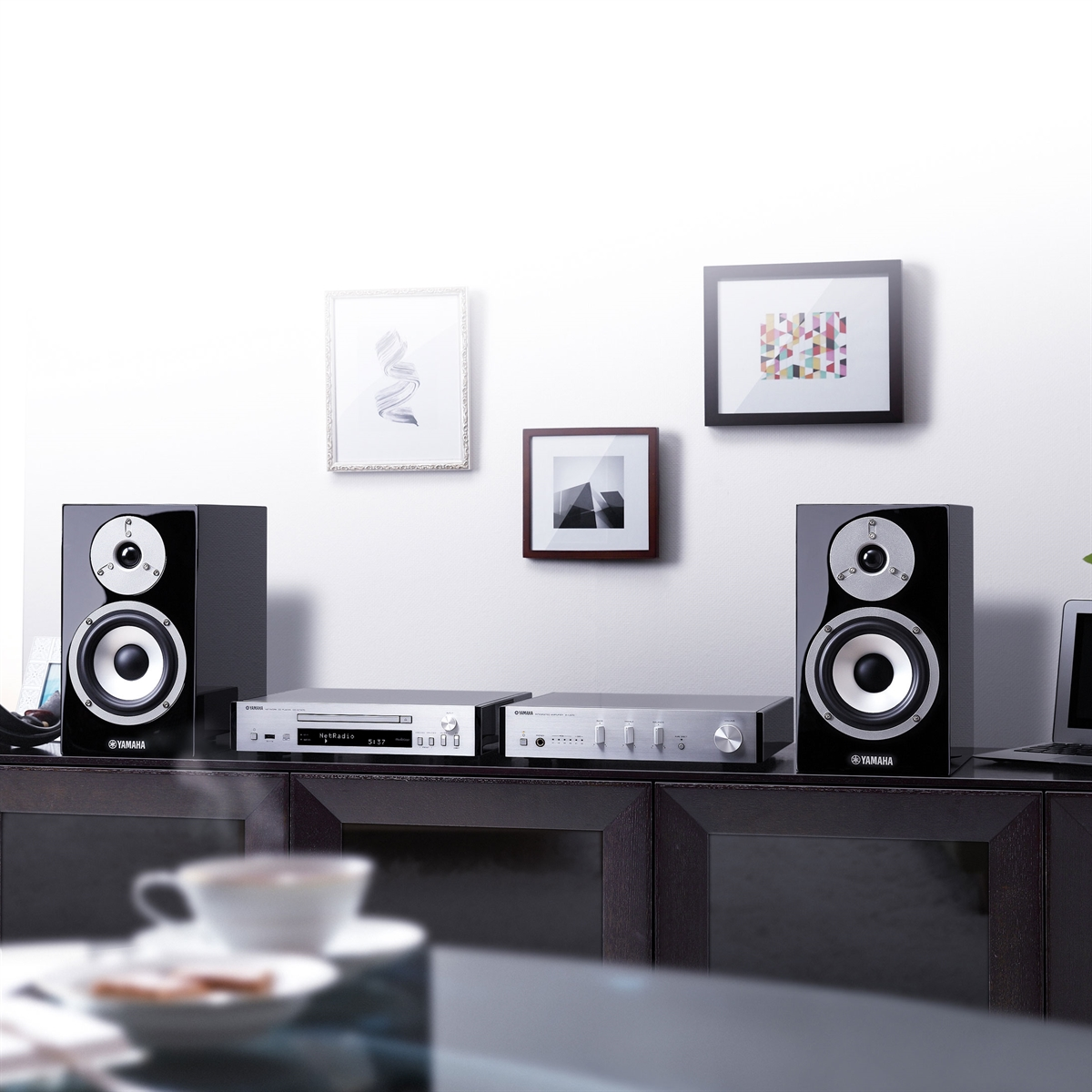 yamaha mcr n870d mini hi fi anl g. Black Bedroom Furniture Sets. Home Design Ideas