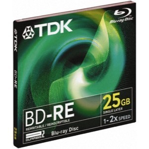 TDK BD-RE25 25GB Blu-Ray Skive